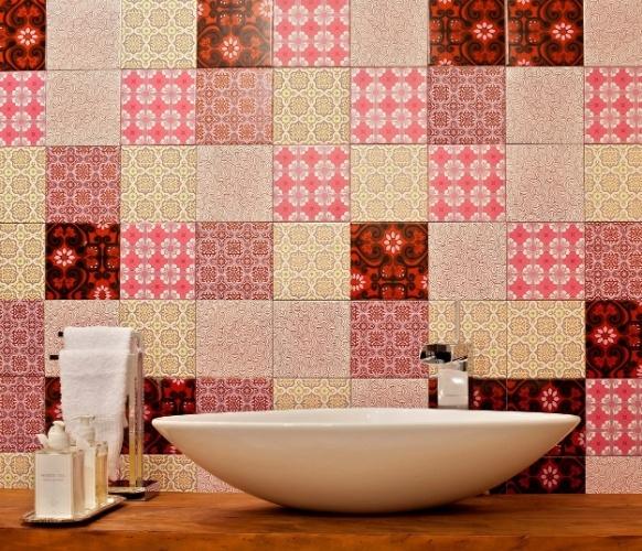 banheiros coloridos tons de vermelho