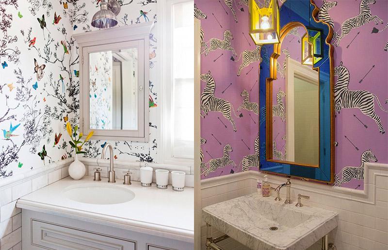 banheiros coloridos vintage