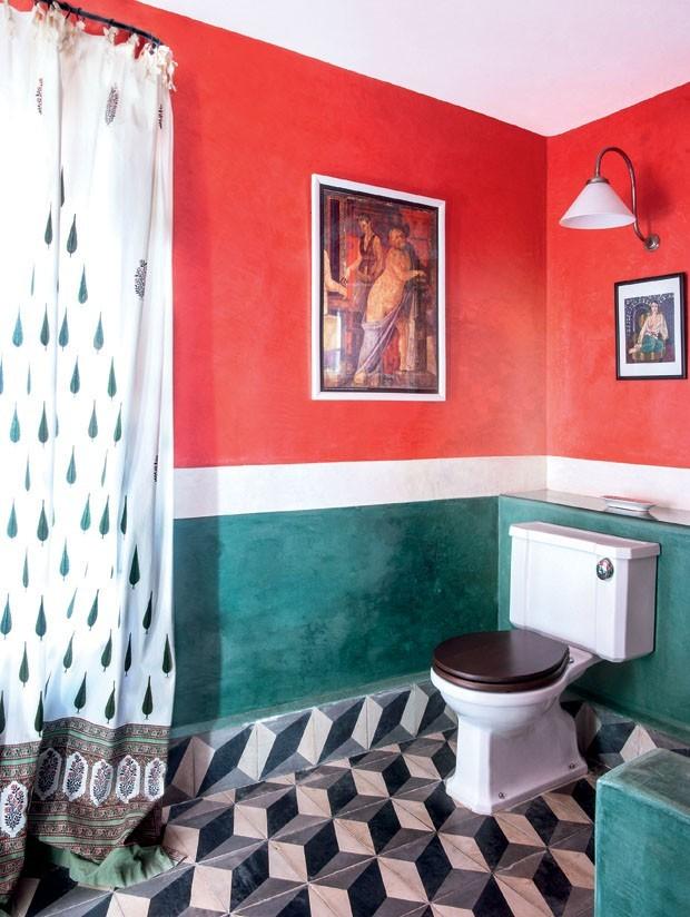 como decorar banheiros coloridos