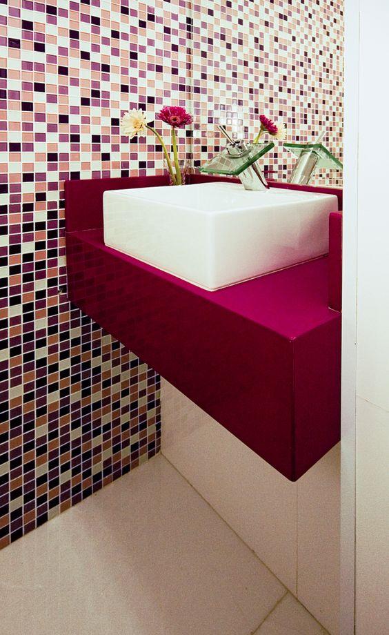 cuba banheiros coloridos