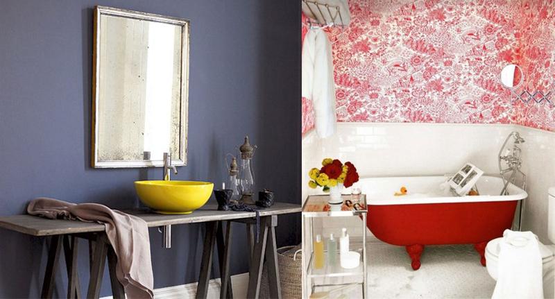 decoracao banheiros coloridos