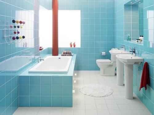 decoracao de banheiros coloridos