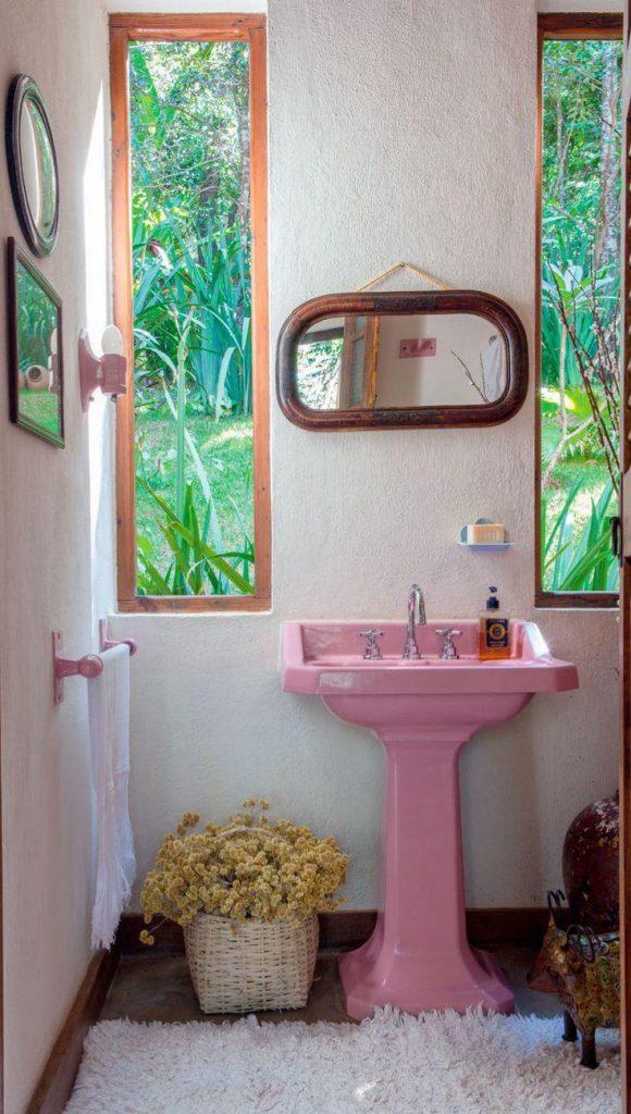 modelos de banheiros coloridos-lindos