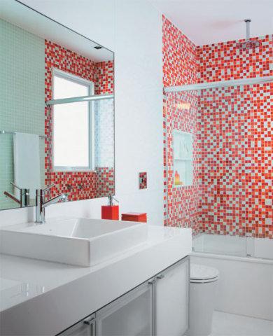 modelos de banheiros coloridos