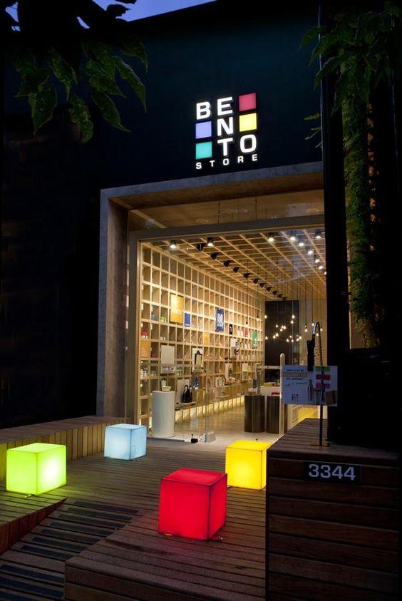 Fachadas de lojas comerciais modernas e criativas
