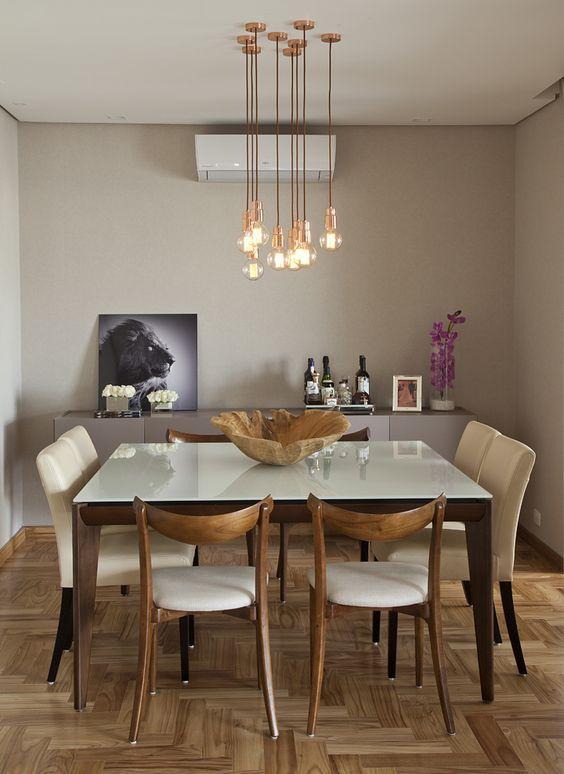 Decoração com Lustres para salas de jantar