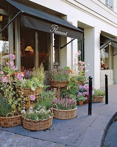 fachadas pequena para lojas com flores