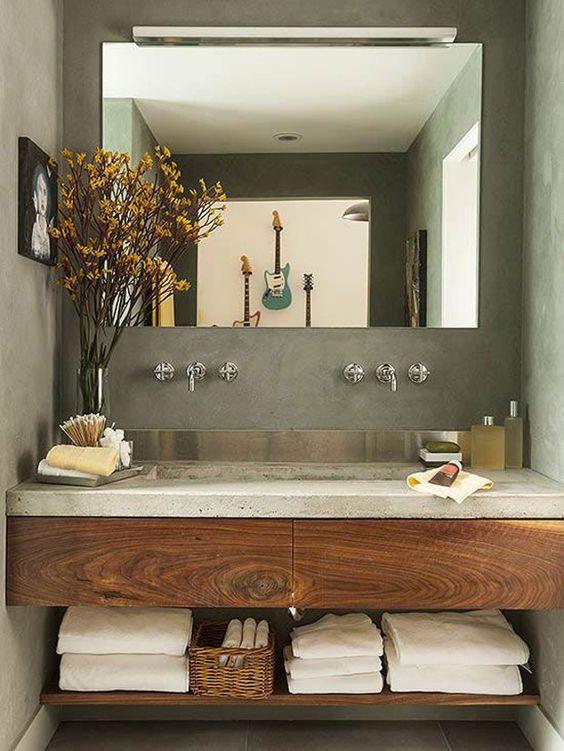 espelho para banheiro rústico