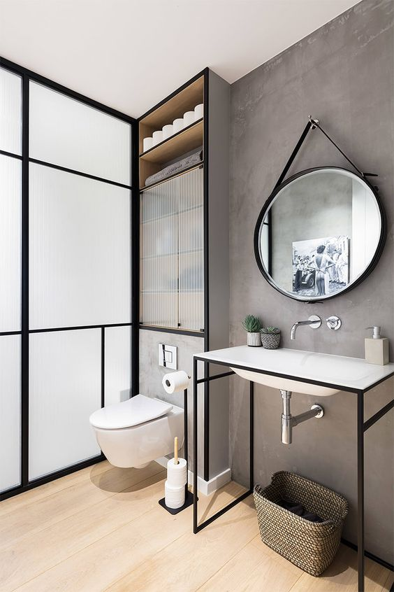 espelho redondo para banheiros
