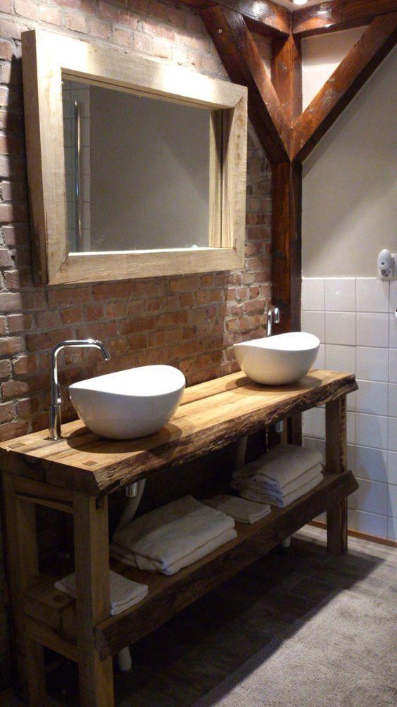 espelho rústico para banheiros