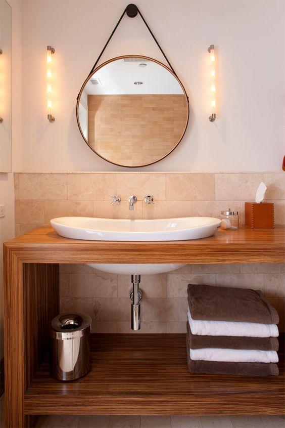 espelhos redondos para banheiros