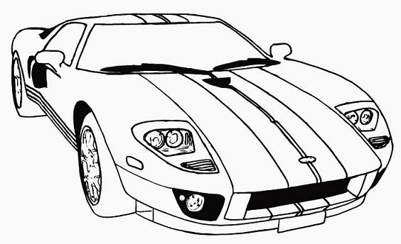 Desenhos De Carros Para Imprimir E Colorir